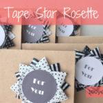 マスキングテープで作った星型のロゼット Washi tape star rosette